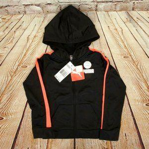 Puma Boys Youth Designer Black Track Jacket W/Hood